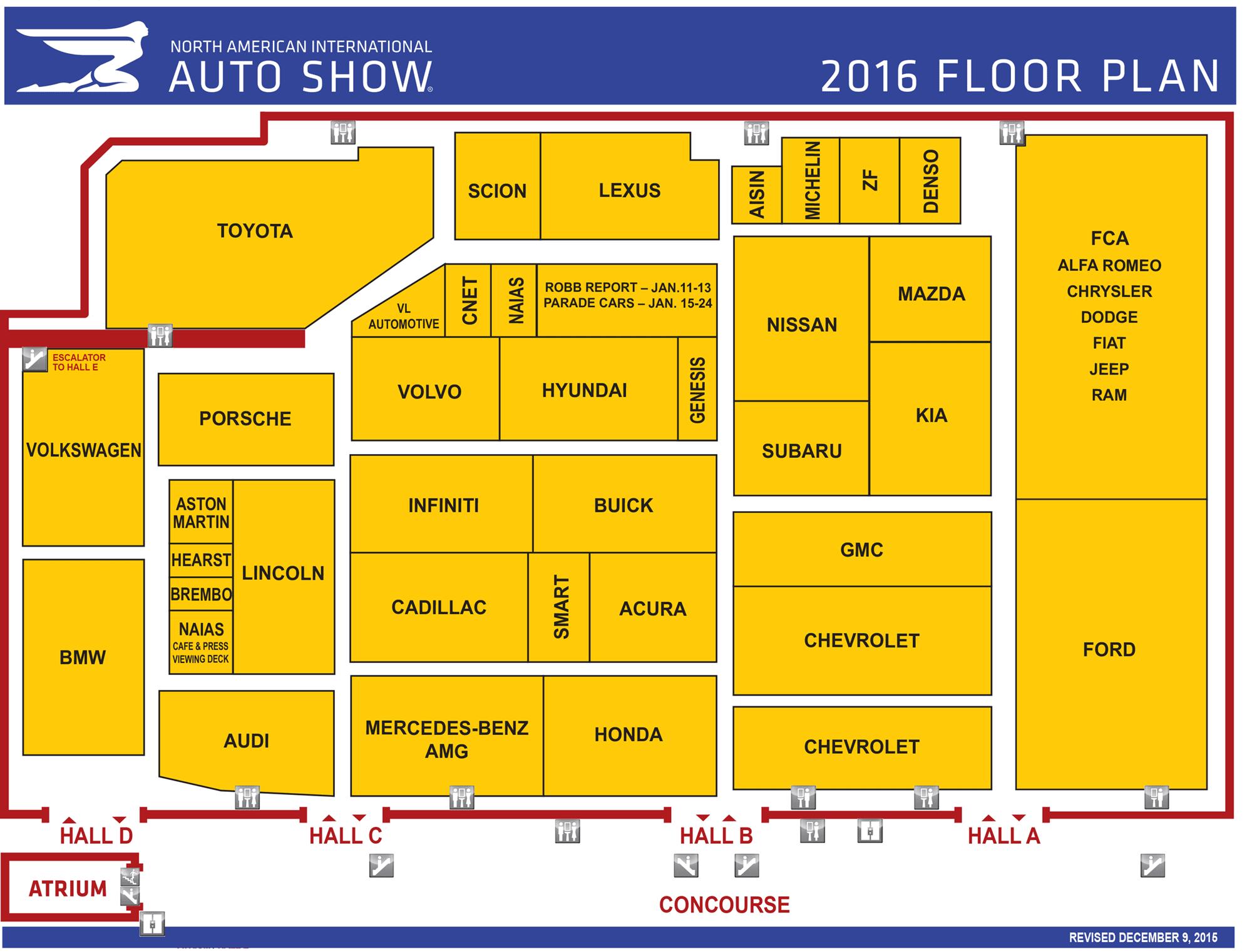 Detroit auto show floor map and pdf the detroit news for Auto floor plan
