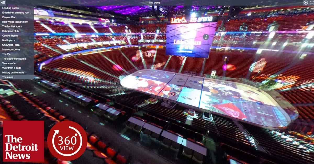 Little Caesars Arena in 360 degrees - The Detroit News